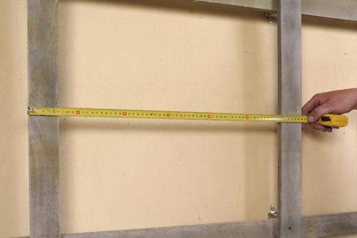 4. Pomiar odległości między łatami pionowymi